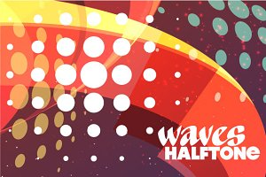 Creative waves halftone