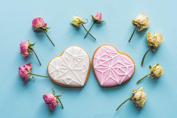 Holiday Stock Photos: LightField Studios - heart shaped cookies