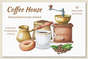Coffee House Hand Painted Collection