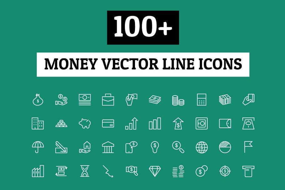 100+ Money Vector Line Icons