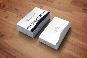 Photography elegant business card