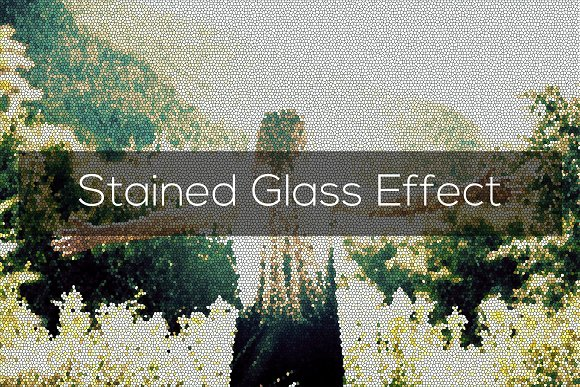 Stained Glass Effect-Graphicriver中文最全的素材分享平台