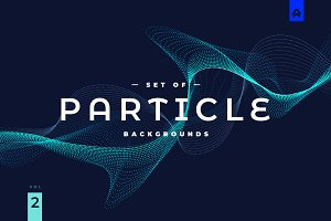 Particle Abstract Backgrounds vol 2