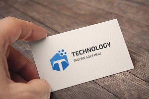 Letter T (Technology) Logo