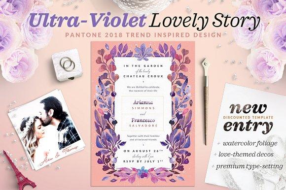 Ultra-Violet Lovely Story Invite I