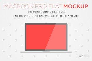 Macbook Pro Retina Flat Mockup