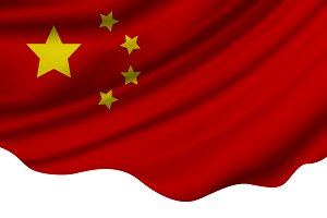 China flag of fabric