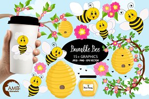 Bumble Bee Clipart, 1053