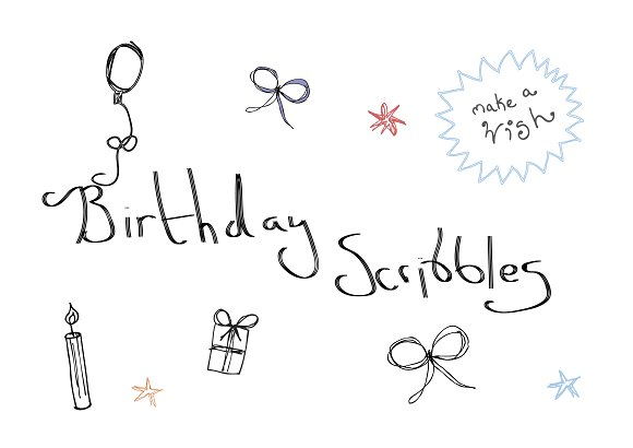 Birthday Scribbles And Doodles