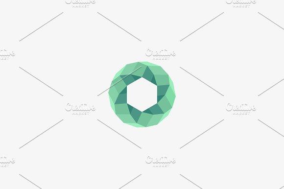 Abstract Round Swirl Logo Design Universal Geometric Spiral Vector Logotype