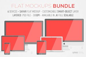 Flat Devices Bundle Mockups