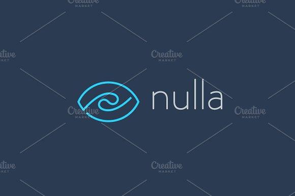 Eye wave logo design. Swirl shutter media vision logotype. Photo video camera sea surf vector symbol.