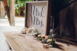 Wedding Decorations Mr. & Mrs.
