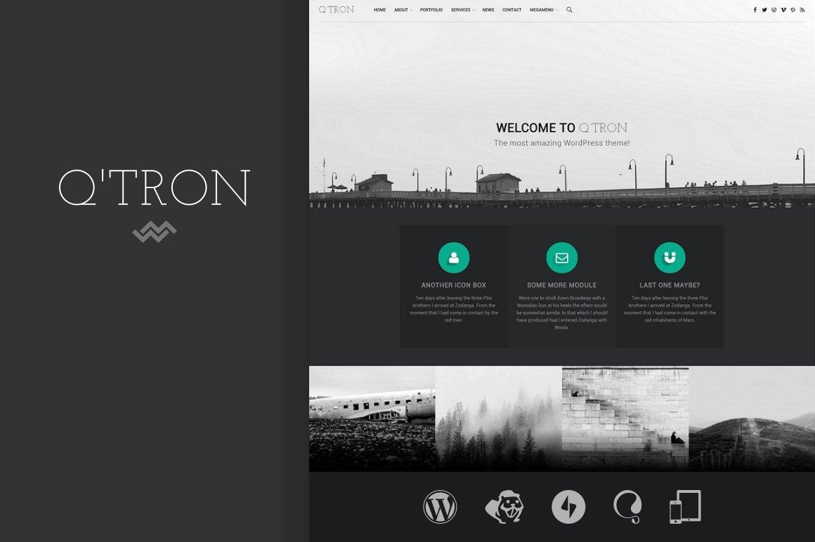 Q\'tron - Business Portfolio WP Theme ~ WordPress Business Themes ...