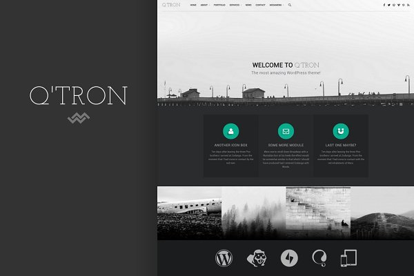 WordPress Business Themes: WebMan Design - Q'tron - Business Portfolio WP Theme