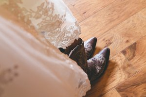 Wedding Dress & Boots