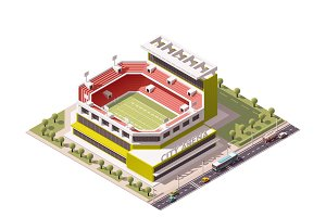 Vector isometric stadium