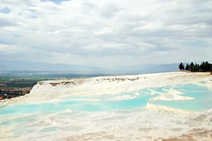 Pamukkale Travertines in Denizli, Turkey