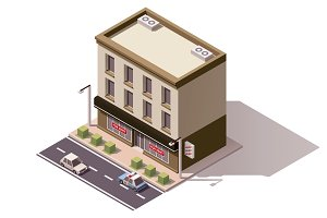 Vector isometric building