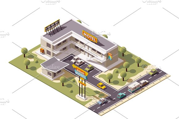 Vector isometric motel