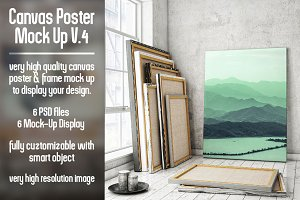 Canvas Poster Mock Up V4