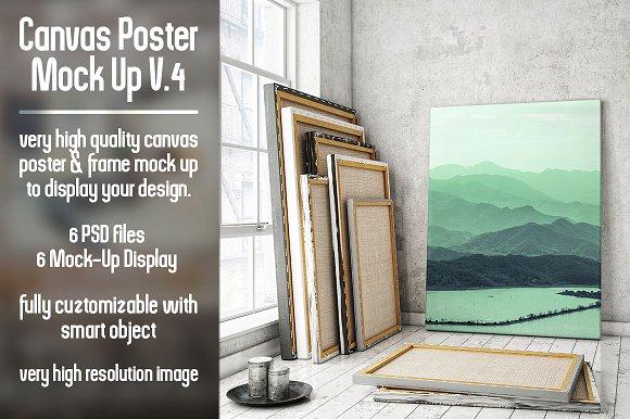 Download Canvas Poster Mock Up V4
