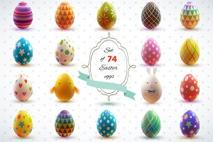 25% off.  Easter eggs. Holiday set.