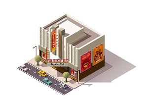 Vector isometric cinema