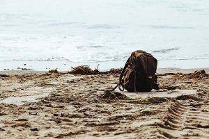 Backpack on Beach