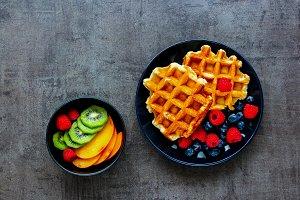 Belgian soft waffles