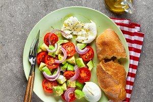 light summer salad with fresh ingred