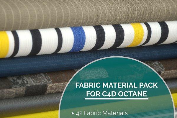 3D Textures: 3DTreatment - 42 Fabric Materials for C4D Octane