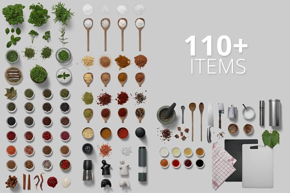 Herbs & Spices - Isolated Food Items in Product Mockups - product preview 2