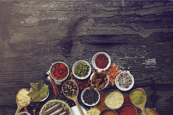 Herbs & Spices - Isolated Food Items in Product Mockups - product preview 4