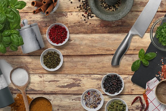 Herbs & Spices - Isolated Food Items in Product Mockups - product preview 5