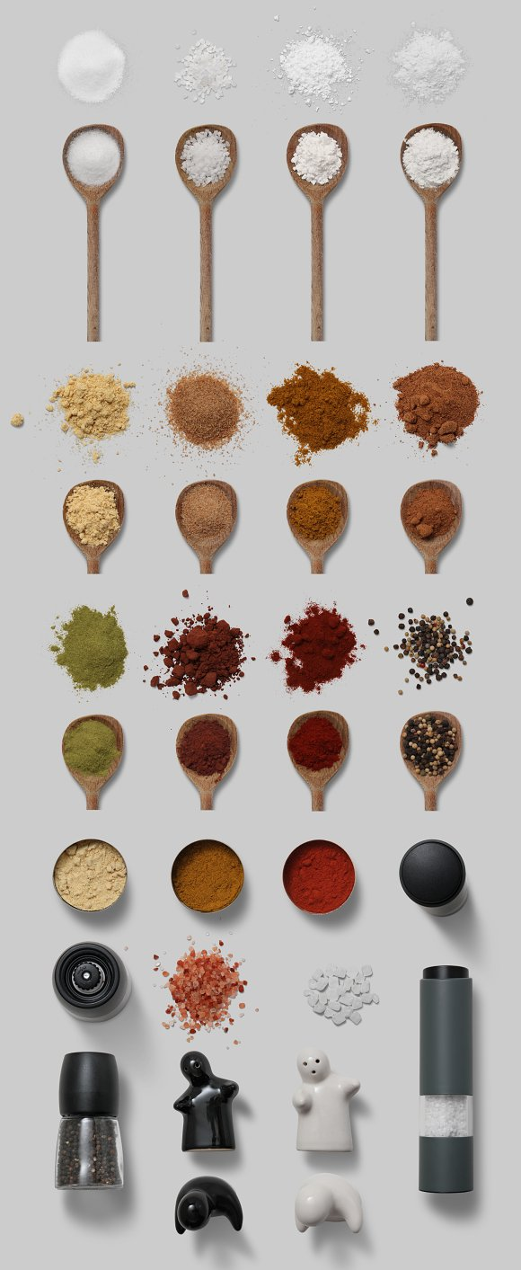 Herbs & Spices - Isolated Food Items in Product Mockups - product preview 7