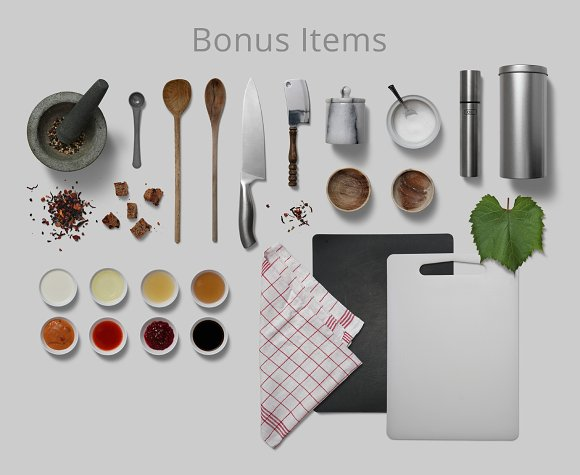 Herbs & Spices - Isolated Food Items in Product Mockups - product preview 8
