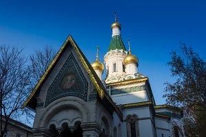 Beautiful and amazing Russian Church, Sofia, Bulgaria