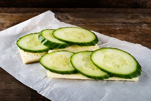 Gluten Free Crispbread and Cucumber Slices