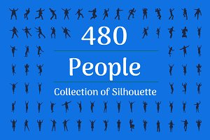480 People Silhouette