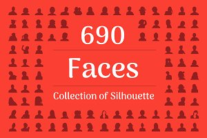 690 Face Silhouette
