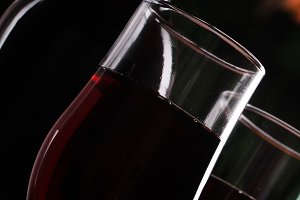 Red wine in a glass