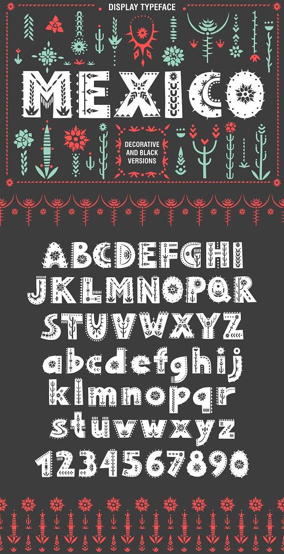 Mexico Font Family Display