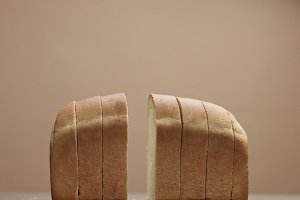 slices of bread showing the bread texture