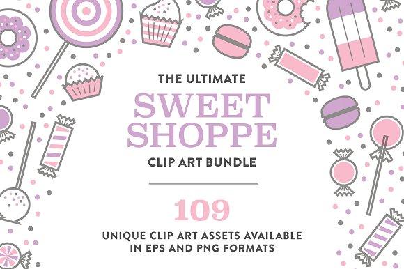 Ultimate Sweet Shop Clip Art Bundle