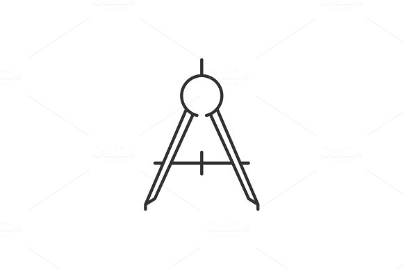 Compass Tool Outline Icon