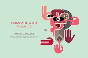 A Man With a Lot of Hands