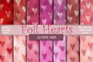 Foil love heart backgrounds