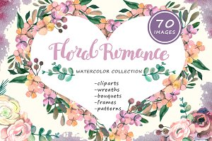Floral Romance - watercolor set