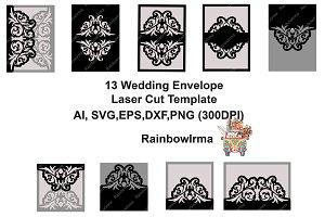 13 Wedding invitation envelope laser
